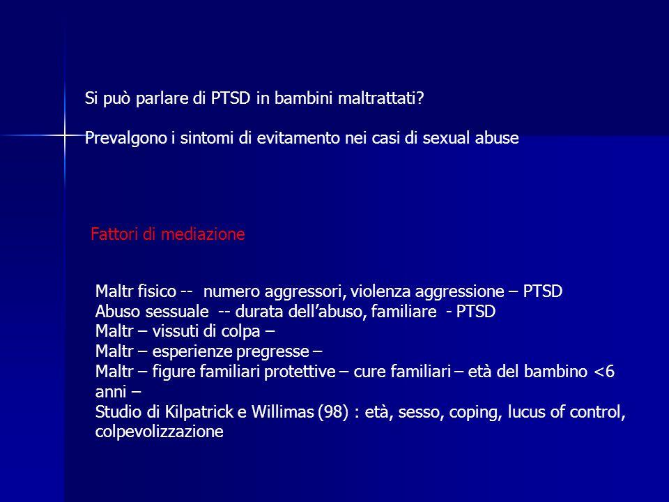Si può parlare di PTSD in bambini maltrattati