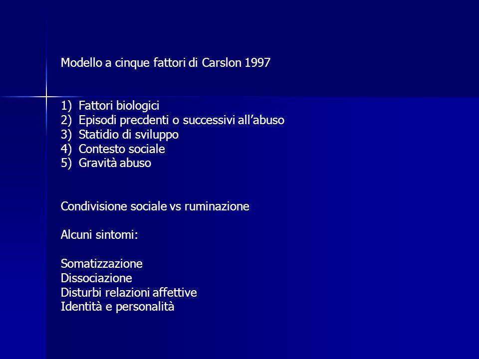 Modello a cinque fattori di Carslon 1997