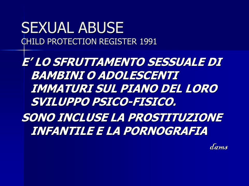 SEXUAL ABUSE CHILD PROTECTION REGISTER 1991