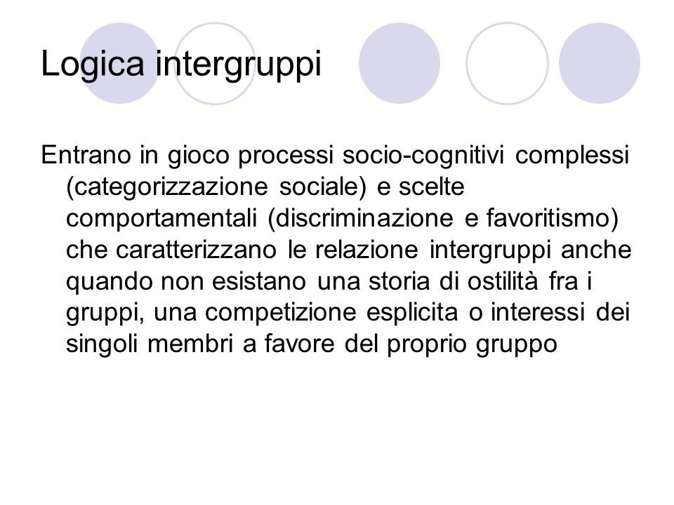 Logica intergruppi