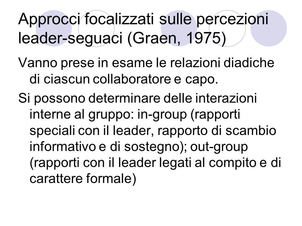 Approcci focalizzati sulle percezioni leader-seguaci (Graen, 1975)