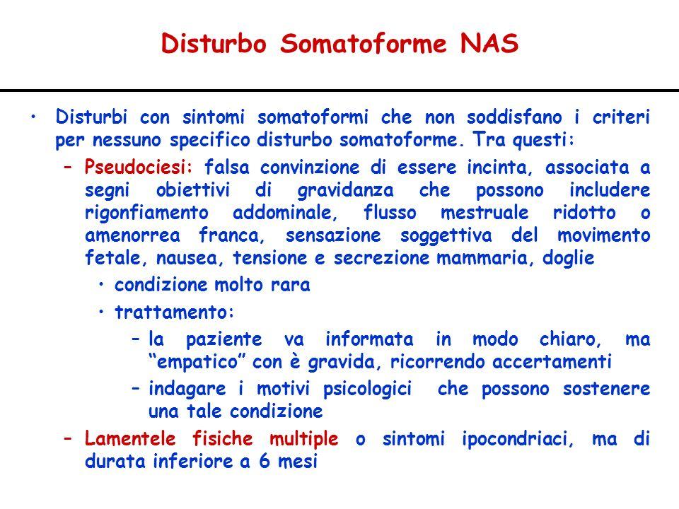 Disturbo Somatoforme NAS