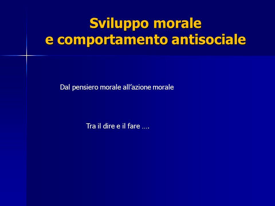 Sviluppo morale e comportamento antisociale