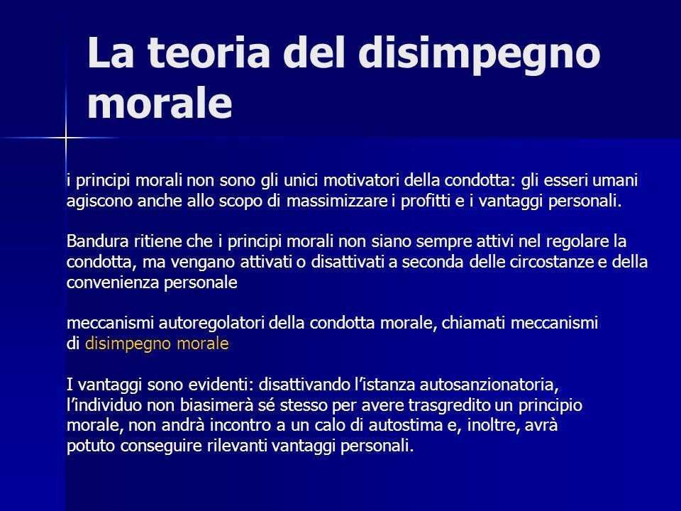 La teoria del disimpegno morale