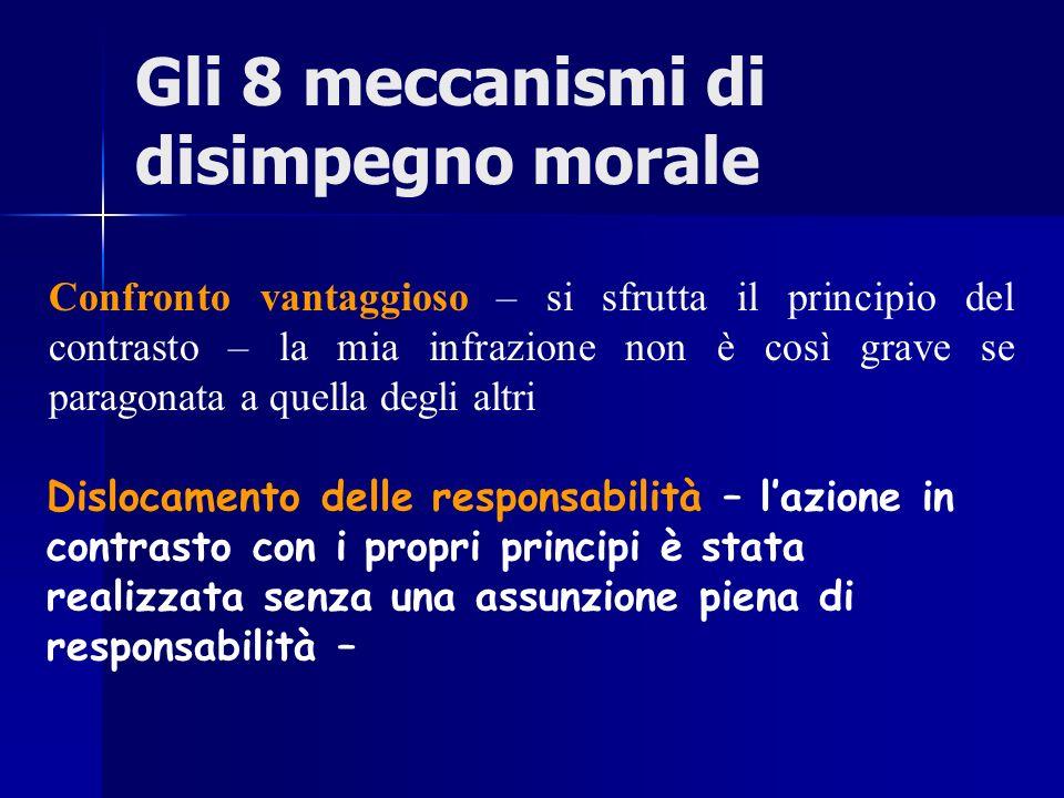 Gli 8 meccanismi di disimpegno morale