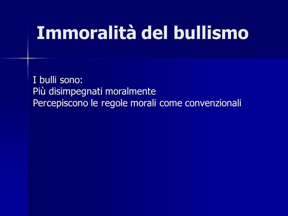 Immoralità del bullismo