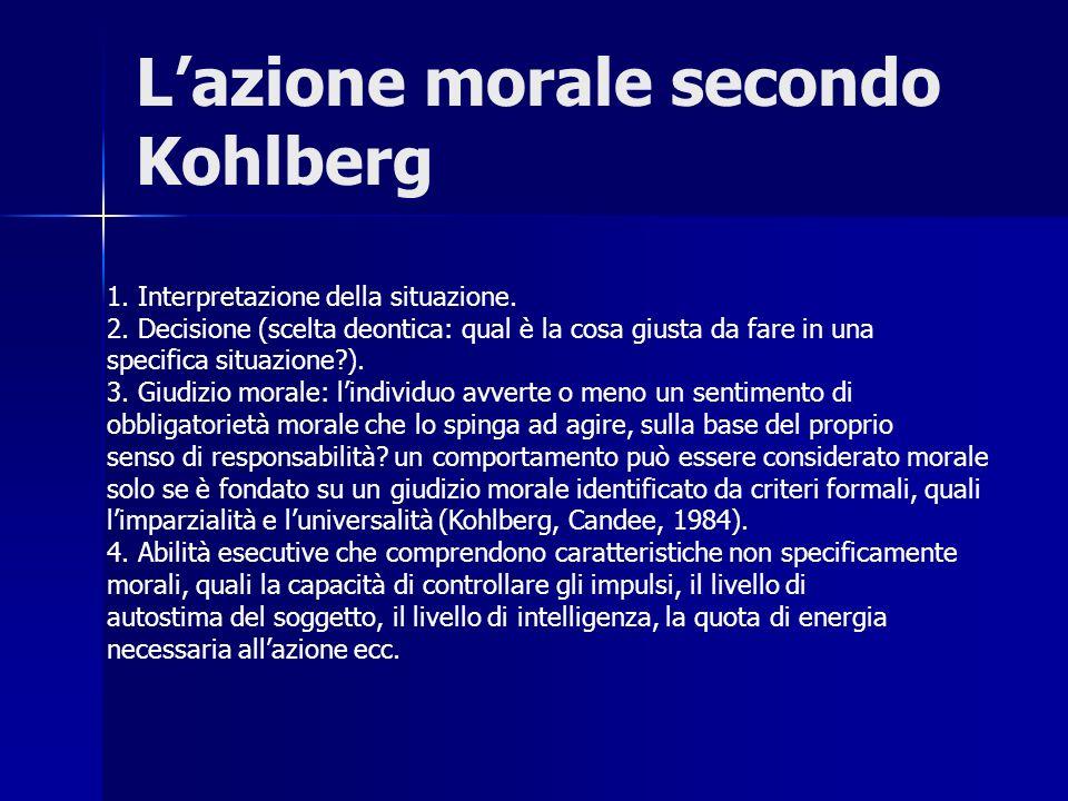 L'azione morale secondo Kohlberg