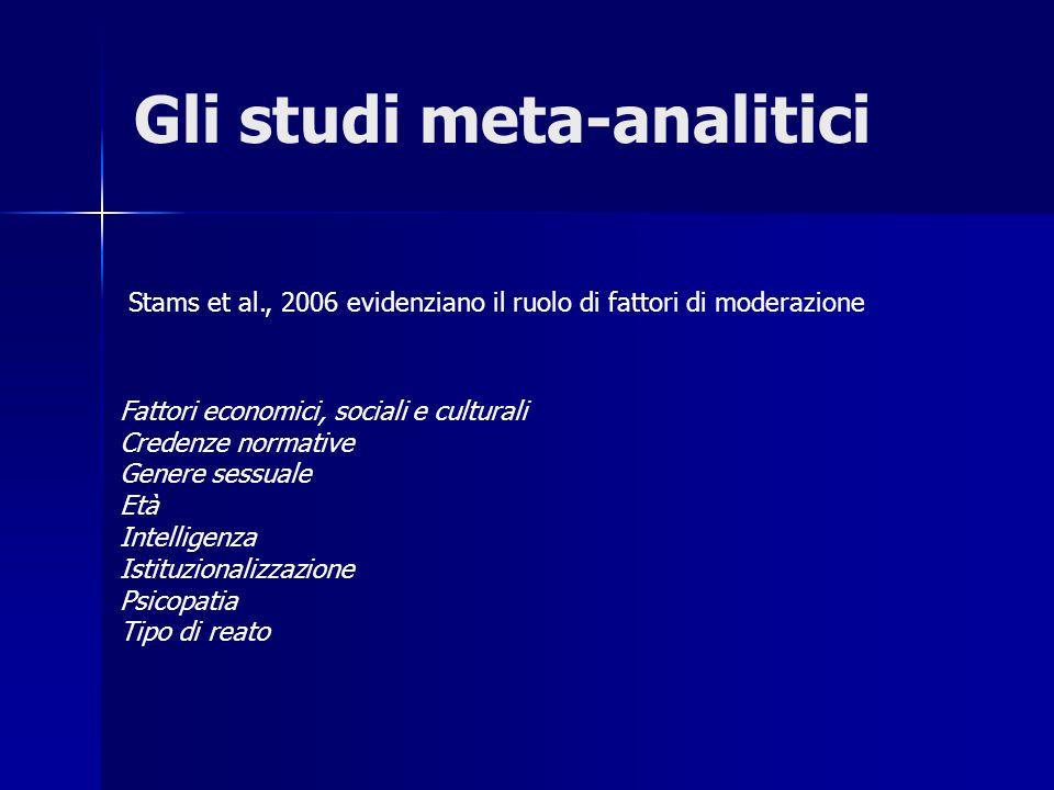 Gli studi meta-analitici