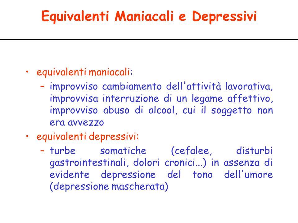 Equivalenti Maniacali e Depressivi