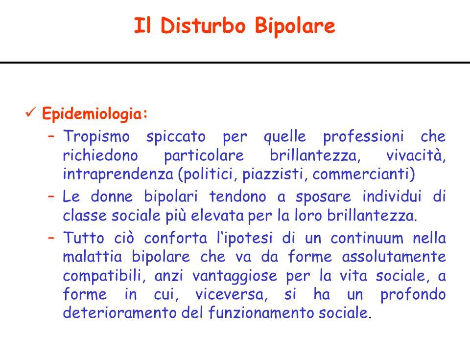 Il Disturbo Bipolare Epidemiologia: