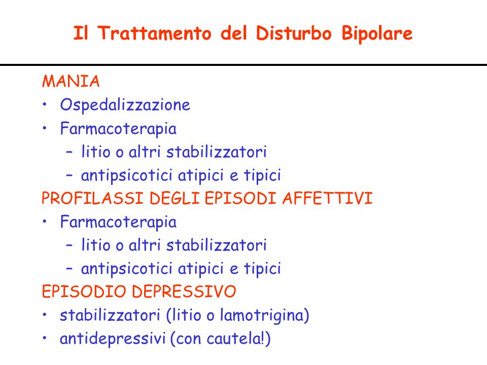 Il Trattamento del Disturbo Bipolare