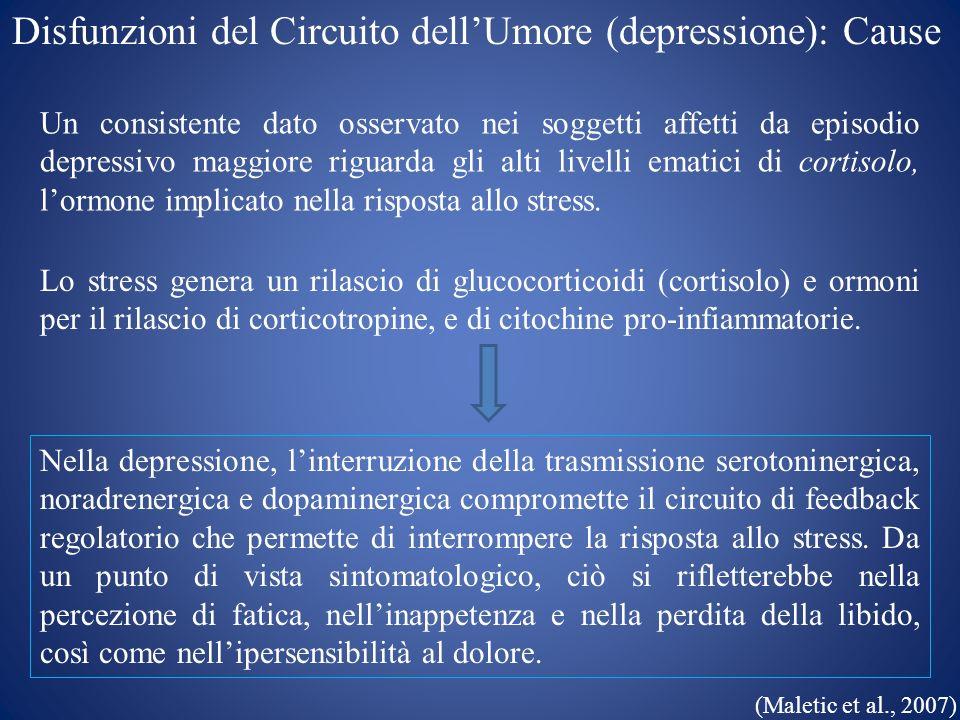 Disfunzioni del Circuito dell'Umore (depressione): Cause