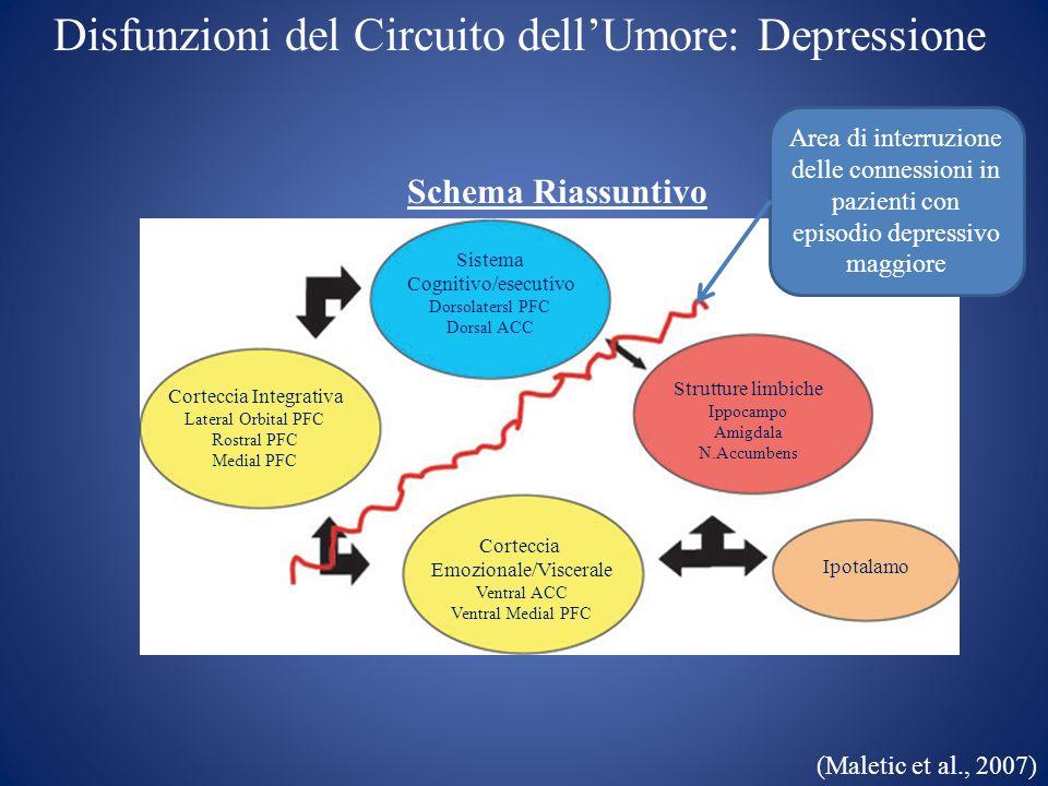 Disfunzioni del Circuito dell'Umore: Depressione