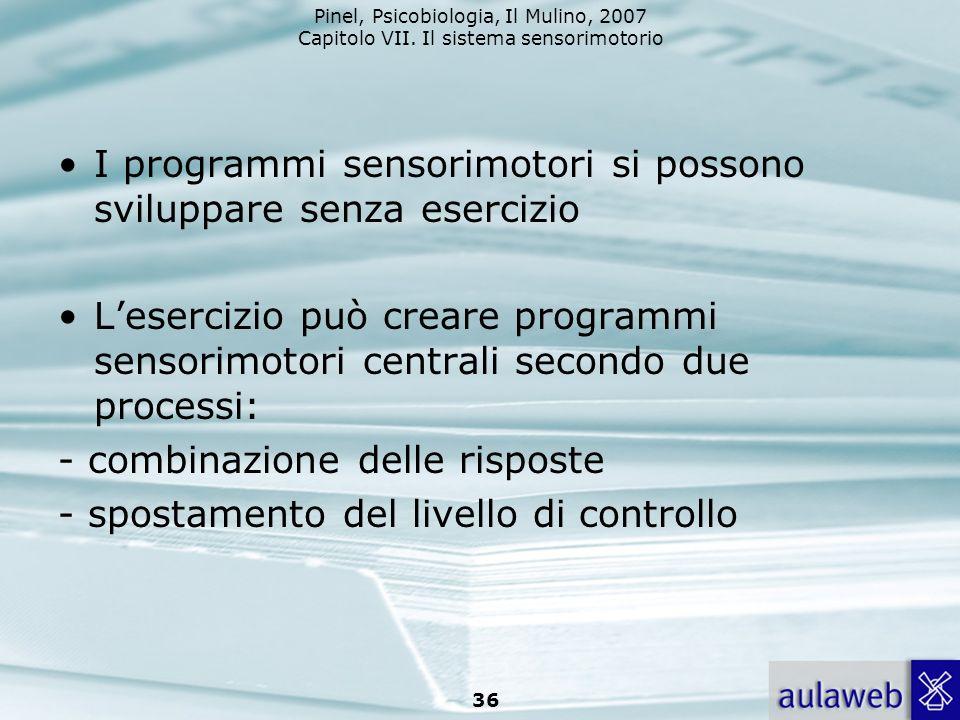 I programmi sensorimotori si possono sviluppare senza esercizio
