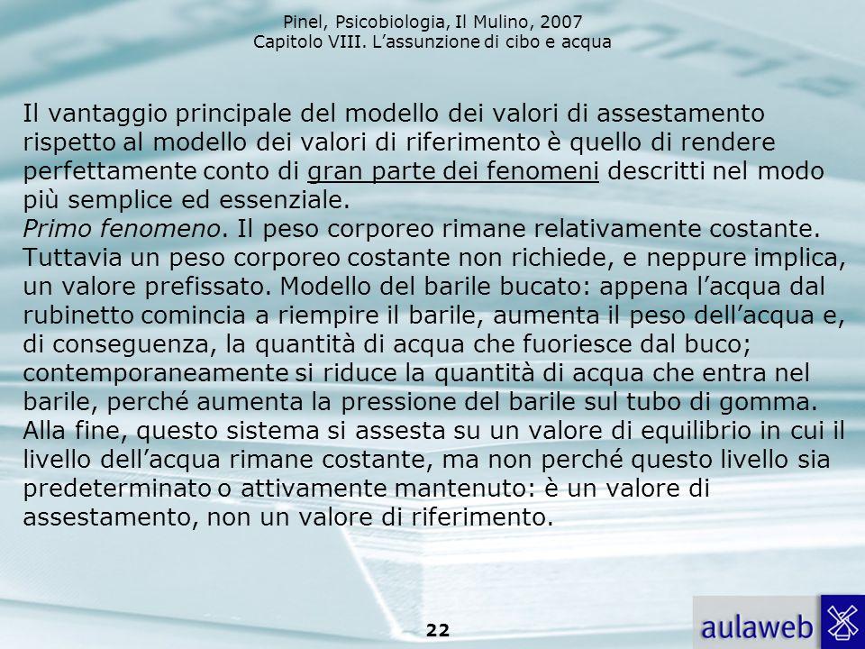 Il vantaggio principale del modello dei valori di assestamento rispetto al modello dei valori di riferimento è quello di rendere perfettamente conto di gran parte dei fenomeni descritti nel modo più semplice ed essenziale.