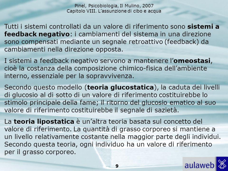 Tutti i sistemi controllati da un valore di riferimento sono sistemi a feedback negativo: i cambiamenti del sistema in una direzione sono compensati mediante un segnale retroattivo (feedback) da cambiamenti nella direzione opposta.
