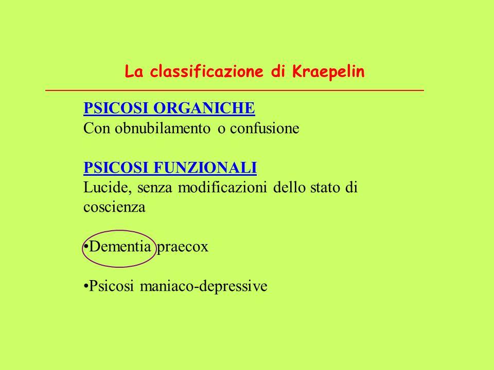 La classificazione di Kraepelin