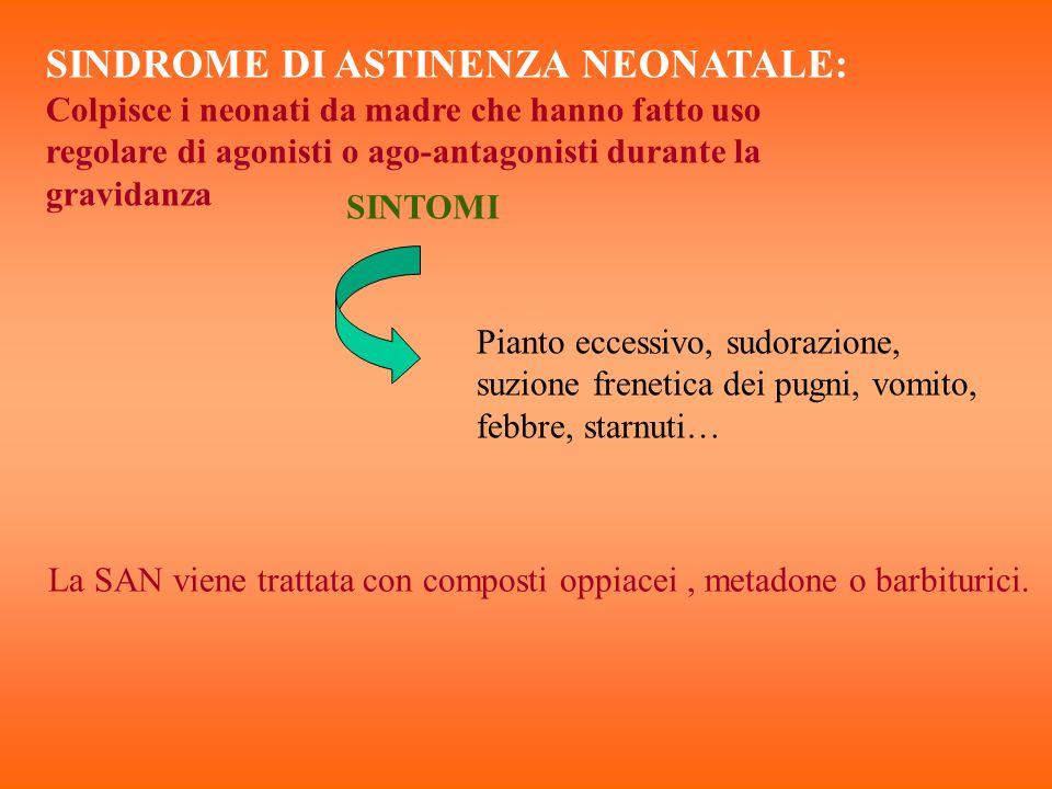 SINDROME DI ASTINENZA NEONATALE: