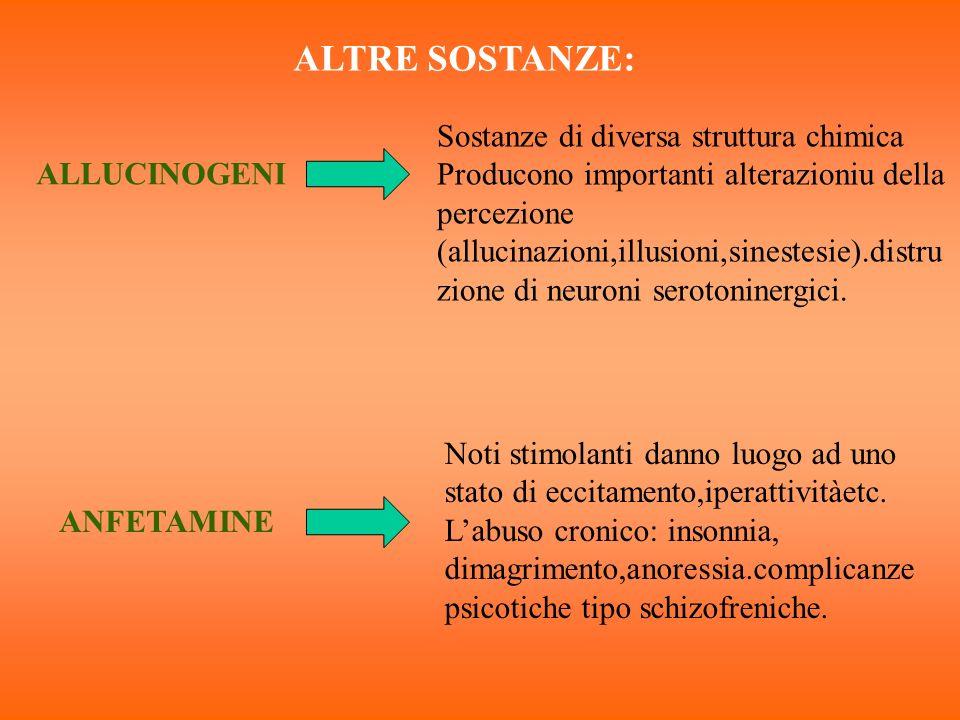 ALTRE SOSTANZE: Sostanze di diversa struttura chimica