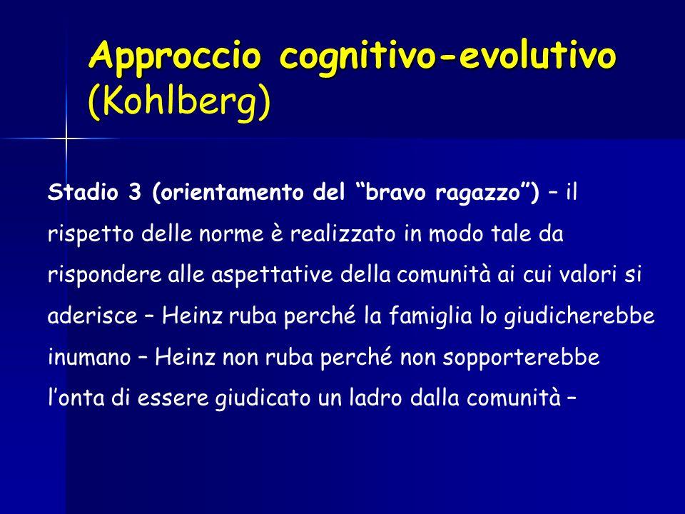 Approccio cognitivo-evolutivo (Kohlberg)
