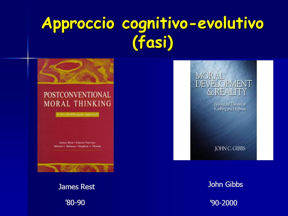 Approccio cognitivo-evolutivo (fasi)