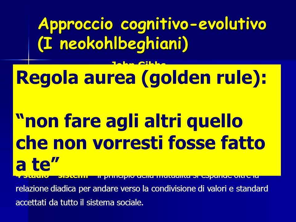 Regola aurea (golden rule):