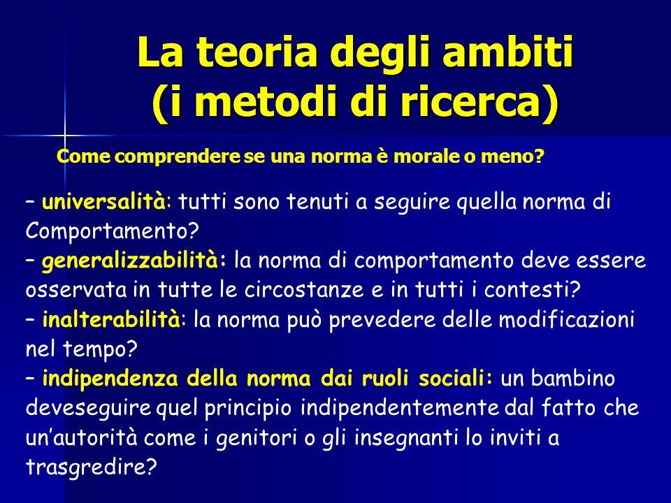 La teoria degli ambiti (i metodi di ricerca)
