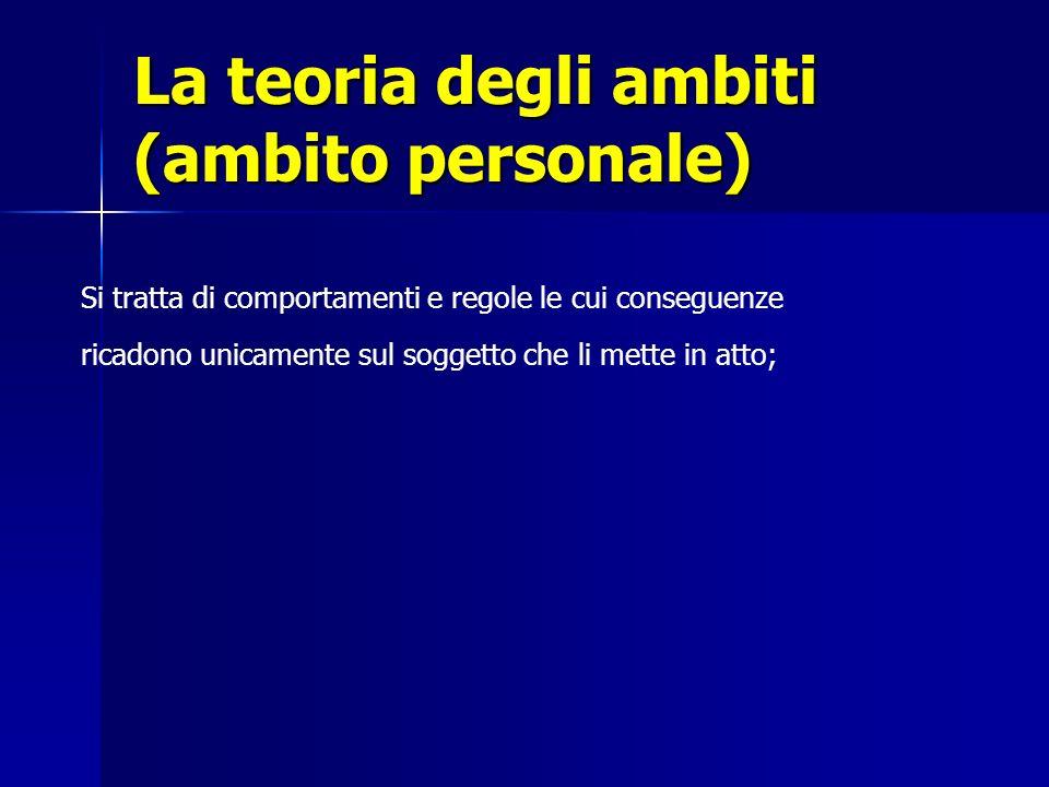 La teoria degli ambiti (ambito personale)