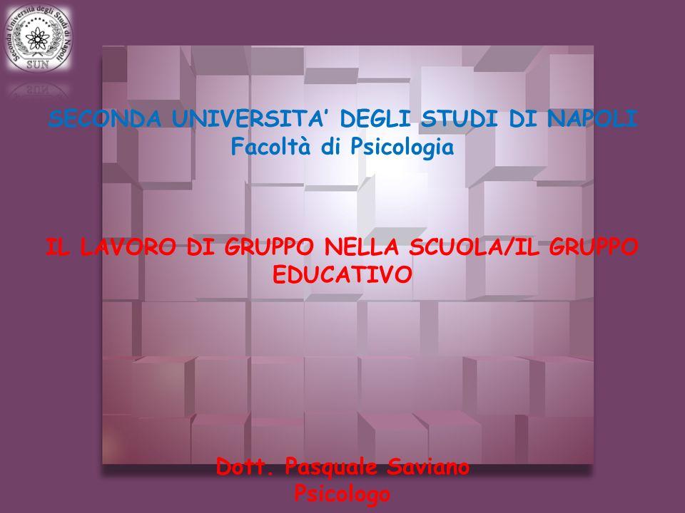 SECONDA UNIVERSITA' DEGLI STUDI DI NAPOLI Facoltà di Psicologia