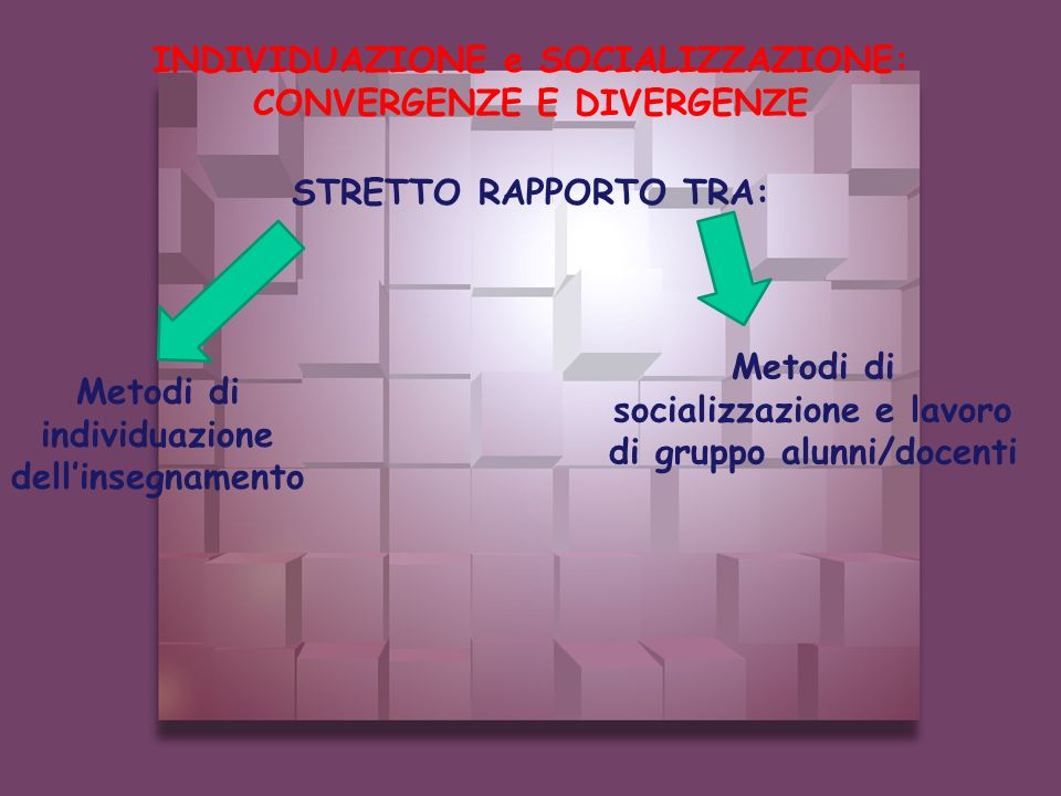 INDIVIDUAZIONE e SOCIALIZZAZIONE: CONVERGENZE E DIVERGENZE