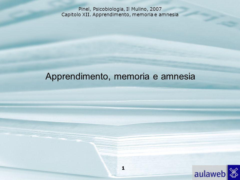 Apprendimento, memoria e amnesia