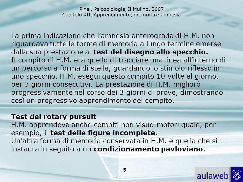 La prima indicazione che l'amnesia anterograda di H. M