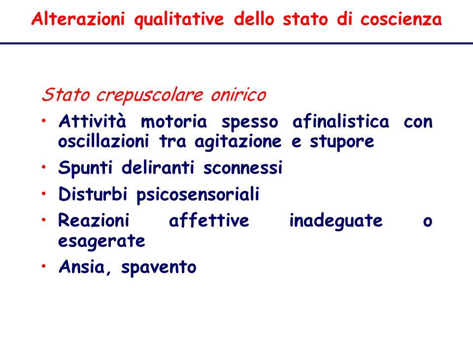 Alterazioni qualitative dello stato di coscienza