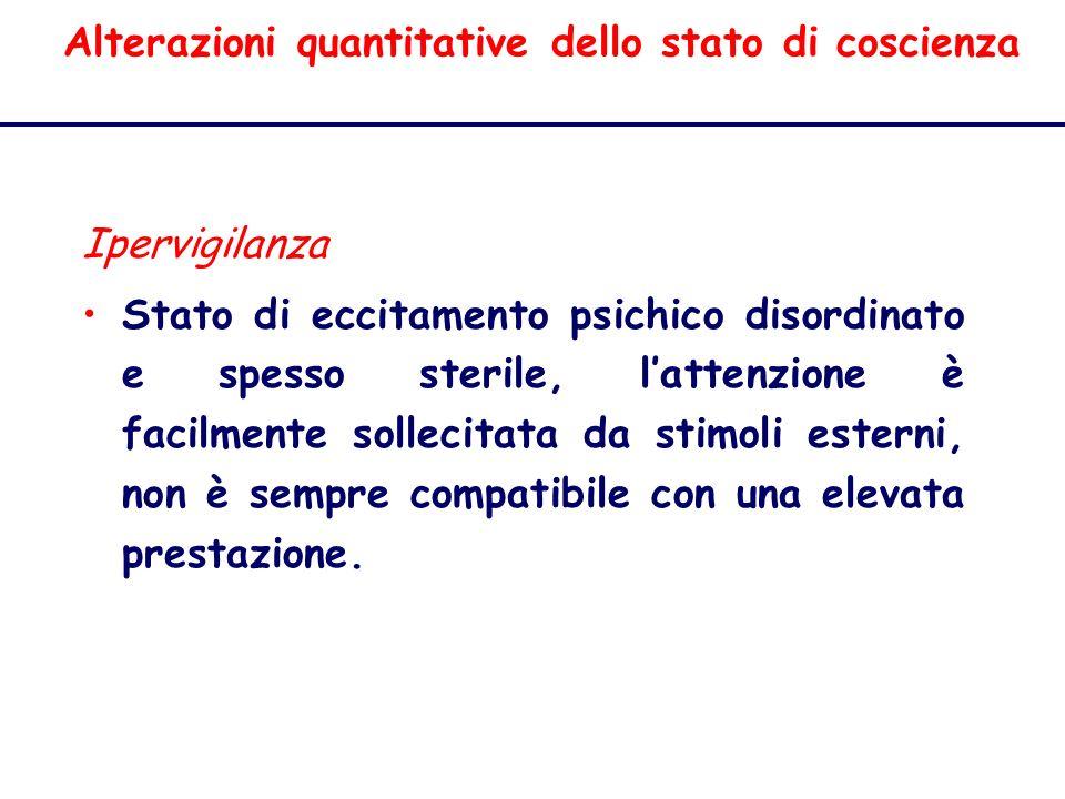 Alterazioni quantitative dello stato di coscienza