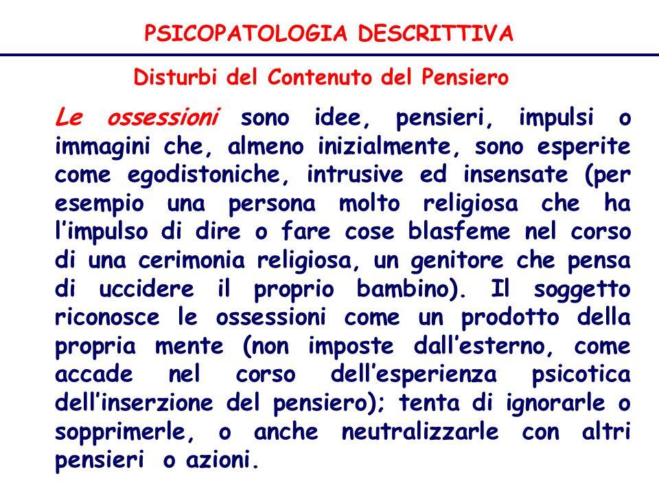 PSICOPATOLOGIA DESCRITTIVA
