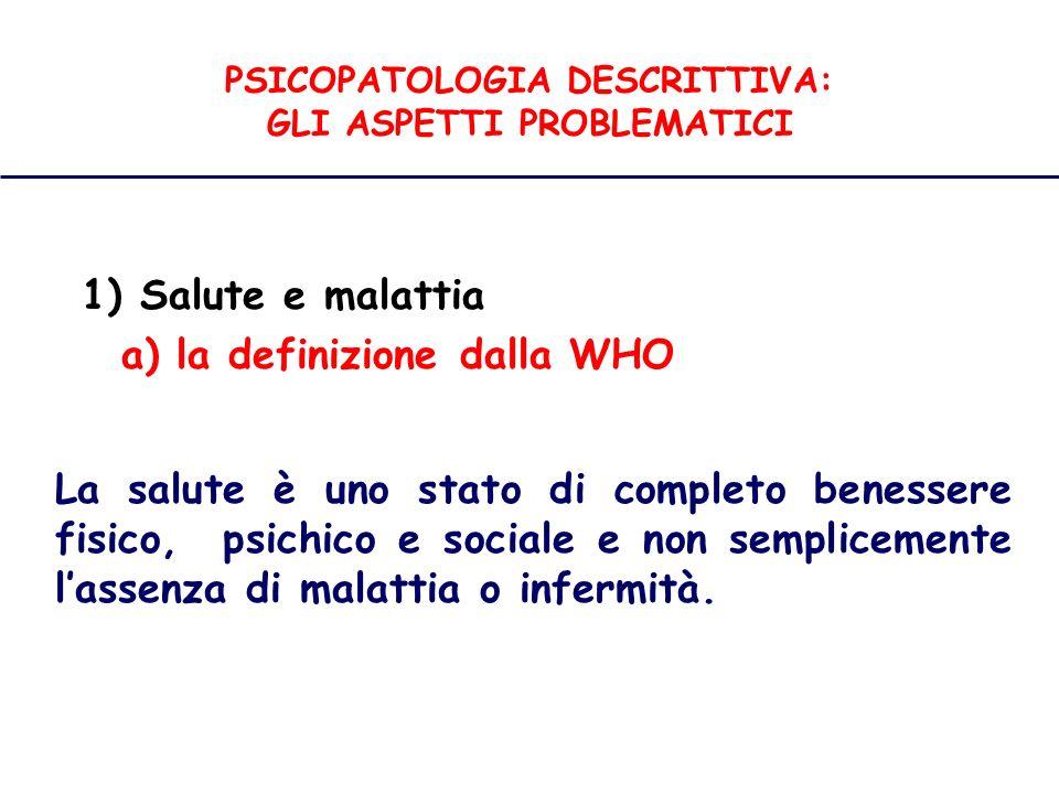PSICOPATOLOGIA DESCRITTIVA: GLI ASPETTI PROBLEMATICI