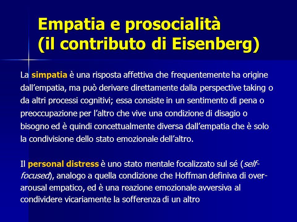 Empatia e prosocialità (il contributo di Eisenberg)