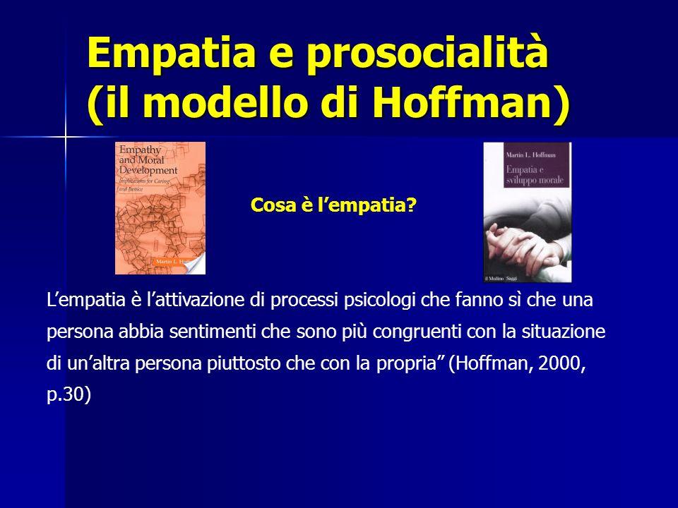 Empatia e prosocialità (il modello di Hoffman)