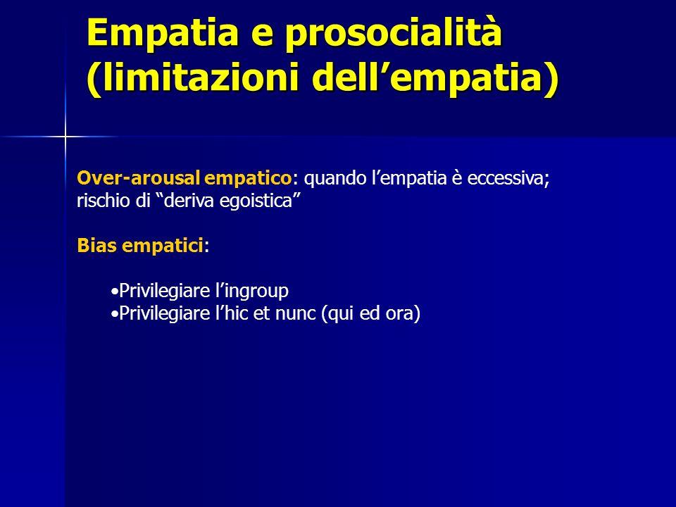 Empatia e prosocialità (limitazioni dell'empatia)