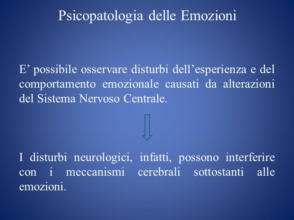 Psicopatologia delle Emozioni