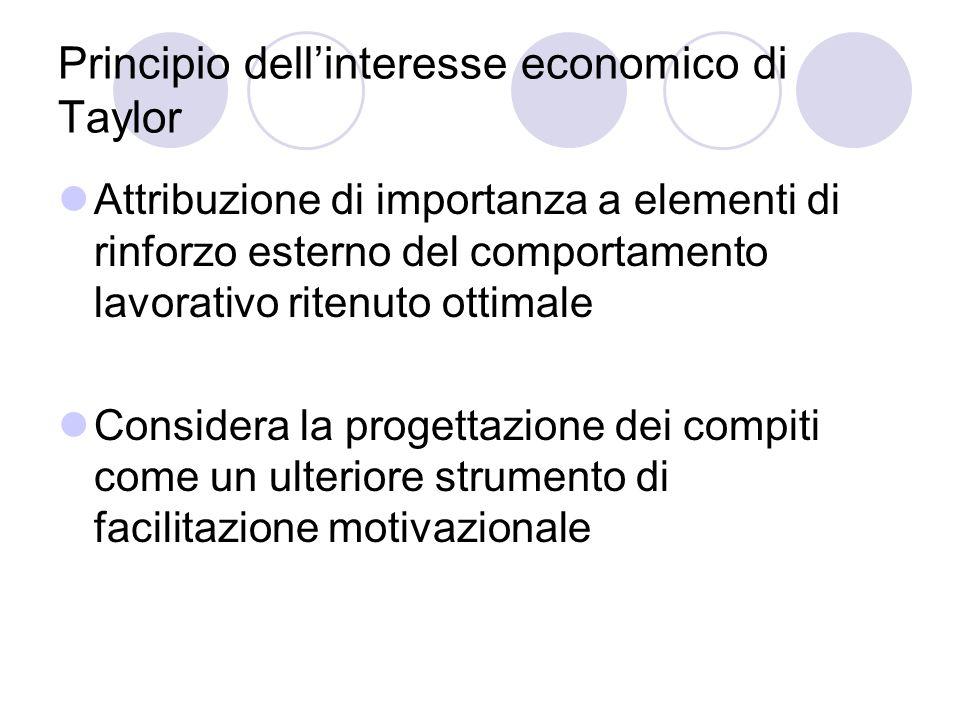 Principio dell'interesse economico di Taylor