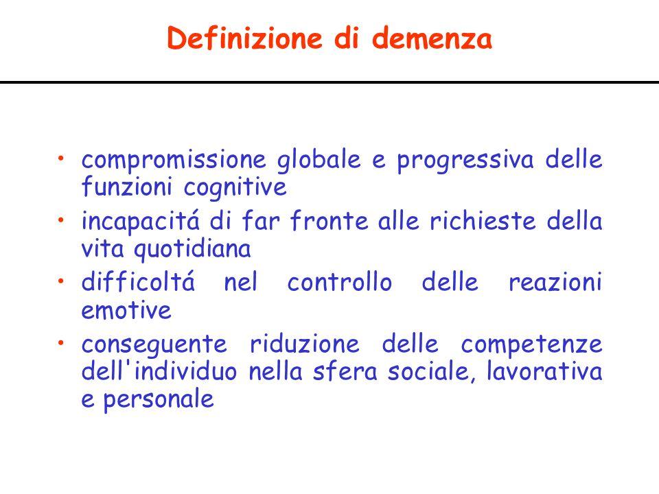 Definizione di demenza