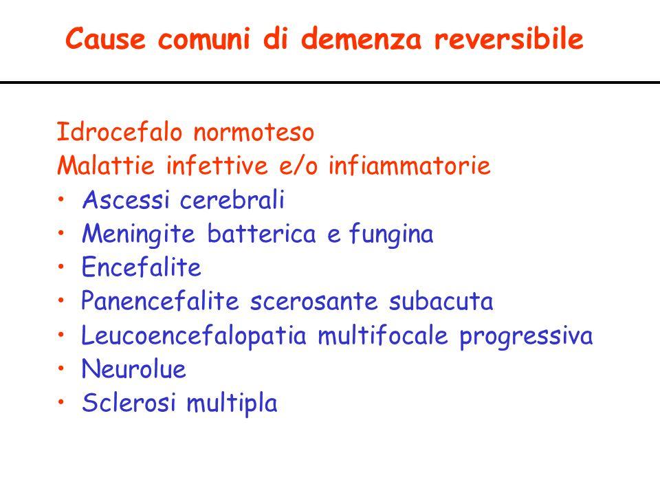 Cause comuni di demenza reversibile
