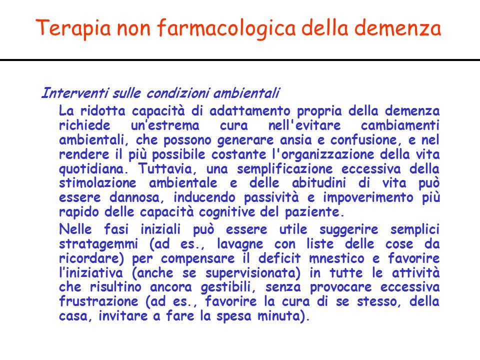 Terapia non farmacologica della demenza