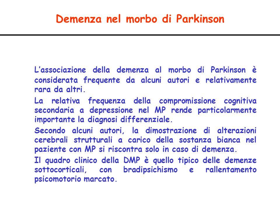 Demenza nel morbo di Parkinson