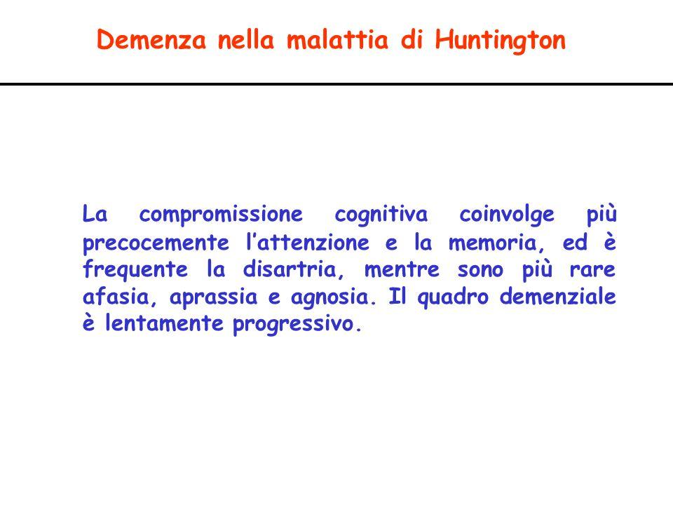 Demenza nella malattia di Huntington