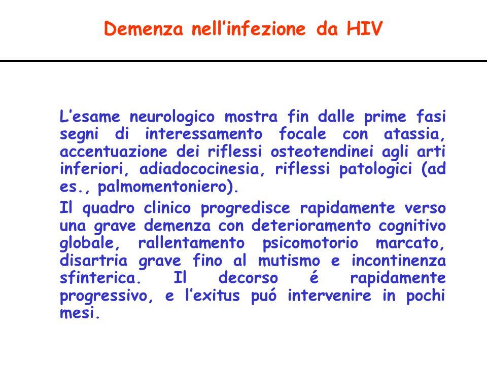 Demenza nell'infezione da HIV