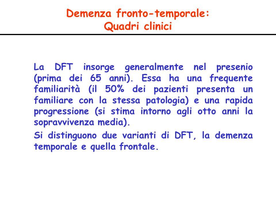 Demenza fronto-temporale: Quadri clinici
