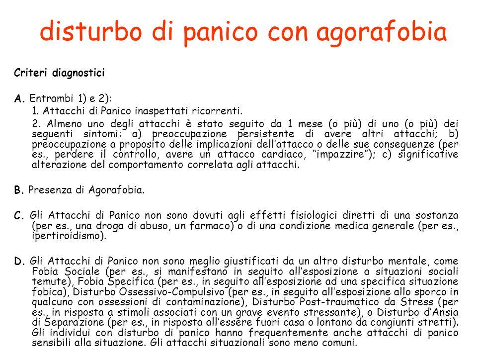 disturbo di panico con agorafobia