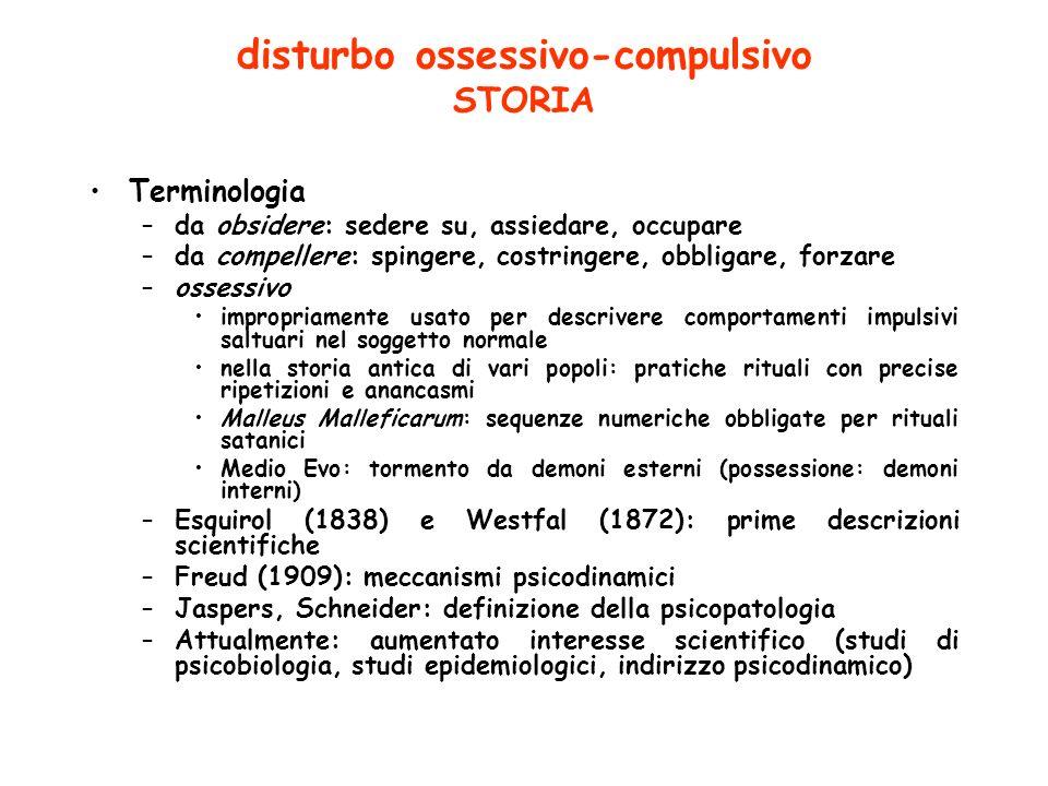 disturbo ossessivo-compulsivo STORIA